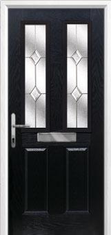 Buy 2 Panel 2 Square Classic Composite Front Door in Black Online