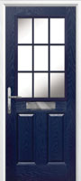 2 Panel 1 Grill Composite Cottage Door in Blue