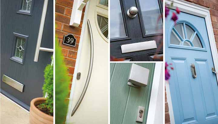 contemporary composite door hardware