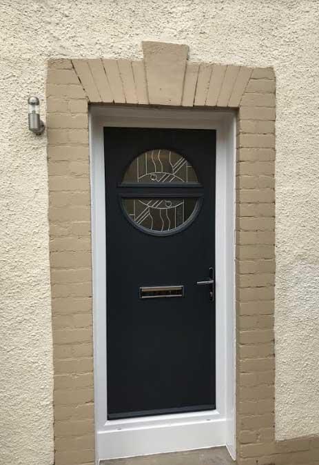 Surprising Composite Front Door Round Window Contemporary - Best ...