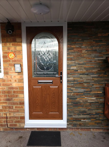 Door Style Purchased 2 Panel 1 Arch Elegance Composite Front In Oak