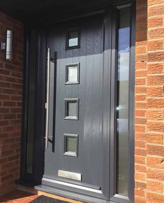 Grp composite doors uk reviews for Modern front doors for homes