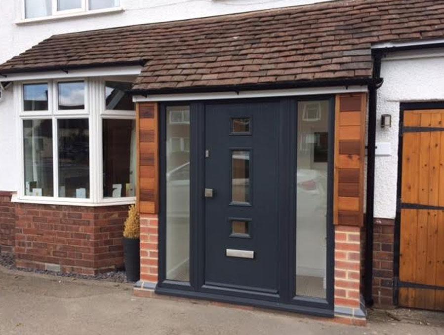 Door Style Purchased Mid 3 Square Glazed Composite Door in Grey & GRP Composite Doors UK Reviews pezcame.com