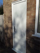 white exterior back door