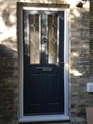 glazed composite door in grey