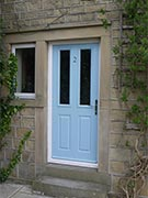 duck egg blue back door