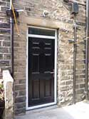 cottage composite door in black