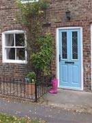 duck egg blue cottage front door