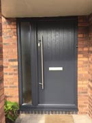 grey composite door and side panel