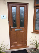 composite front door in oak