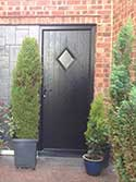 black composite back door