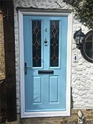 duck egg blue composite front door