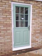 composite back door in chartwell green