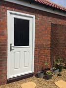 traditional back door in white