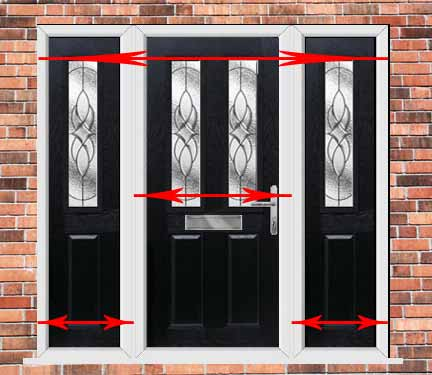 how to measure the width of a upvc door with side panels