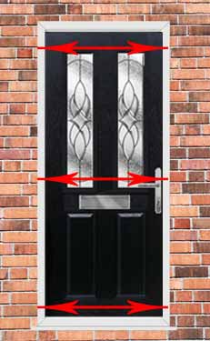 how to measure the width of a upvc door and frame