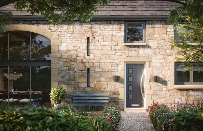 timber 4 offset square style solid core composite doors