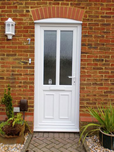 clinton upvc door in white