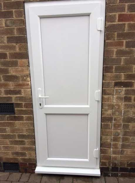 solid white upvc door