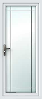 Full Glass Border Square Lead UPVC Door