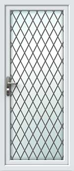 Full Glass Diamond Lead UPVC Door