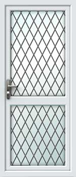 Full Glass Mid Rail Diamond Lead UPVC Door