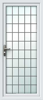 Full Glass Square Lead UPVC Door