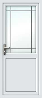 Half Glazed Border Square Lead UPVC Door