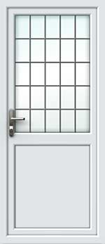 Half Glazed Square Lead UPVC Door
