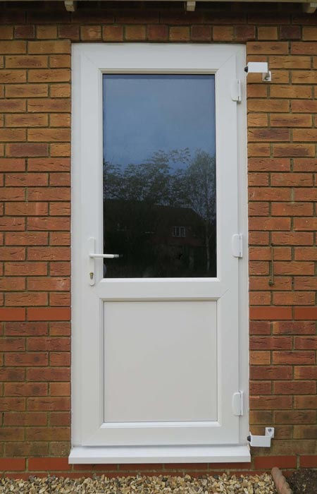 half glazed upvc door